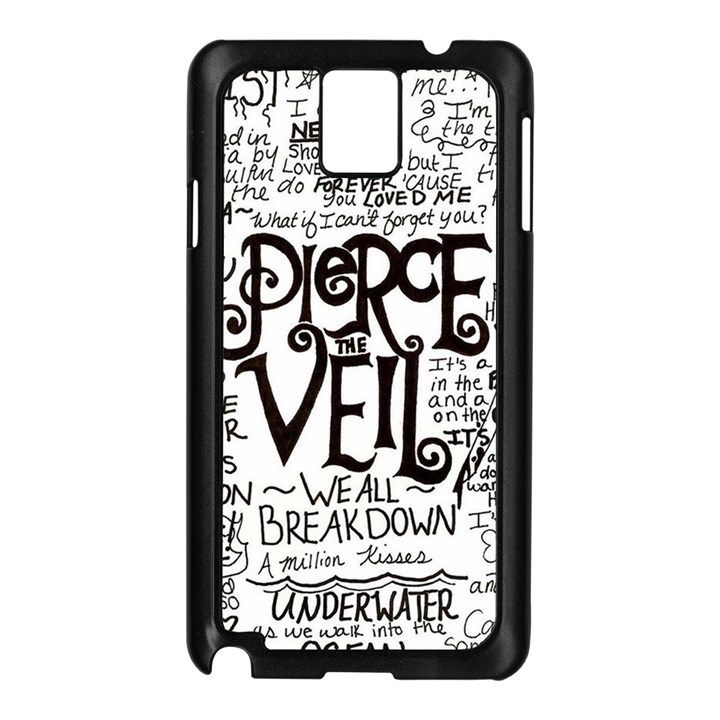 Pierce The Veil Music Band Group Fabric Art Cloth Poster Samsung Galaxy Note 3 N9005 Case (Black)