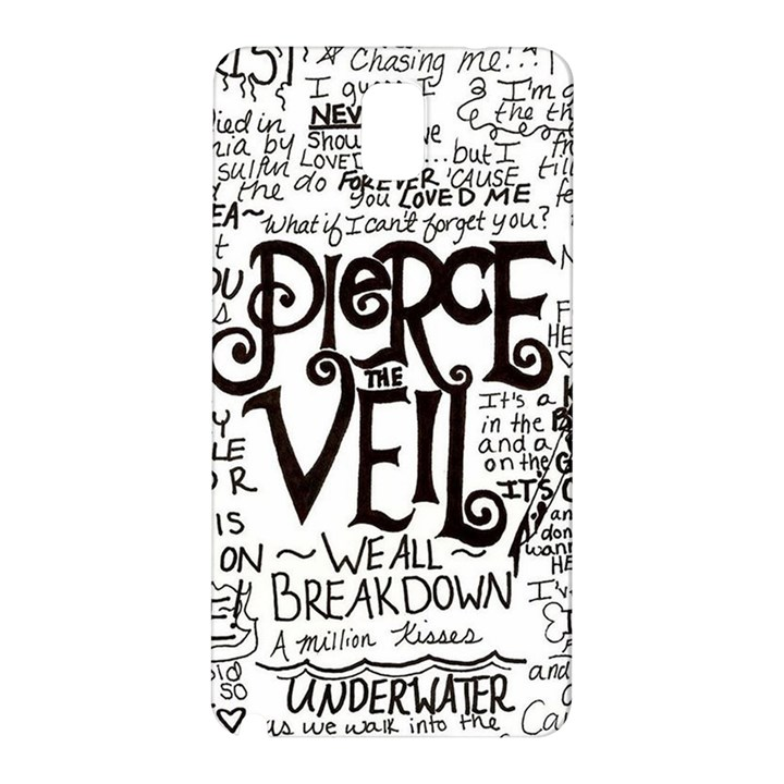Pierce The Veil Music Band Group Fabric Art Cloth Poster Samsung Galaxy Note 3 N9005 Hardshell Back Case