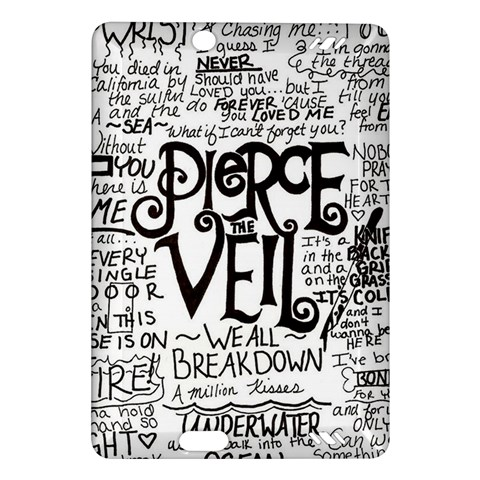 Pierce The Veil Music Band Group Fabric Art Cloth Poster Amazon Kindle Fire HD (2013) Hardshell Case