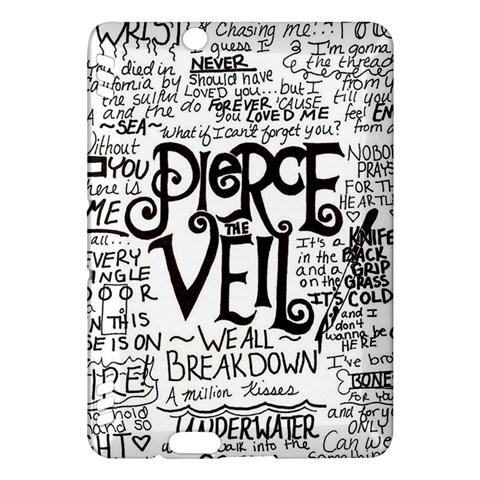 Pierce The Veil Music Band Group Fabric Art Cloth Poster Kindle Fire HDX Hardshell Case