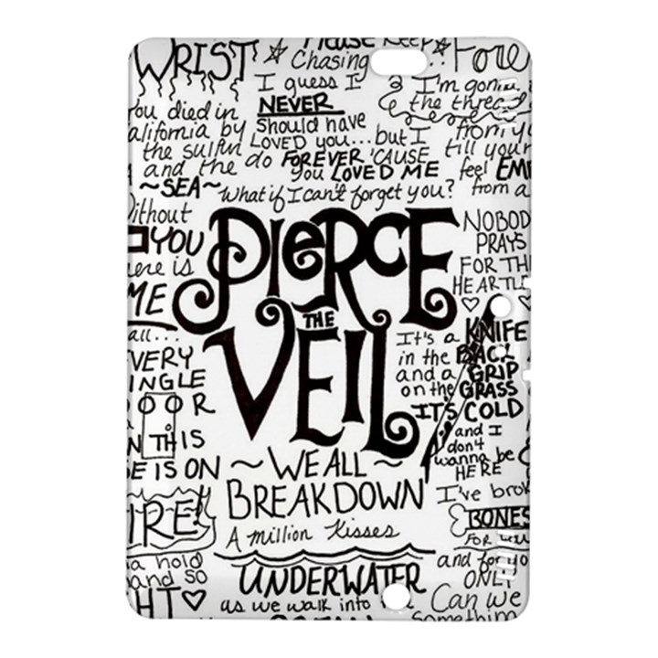 Pierce The Veil Music Band Group Fabric Art Cloth Poster Kindle Fire HDX 8.9  Hardshell Case