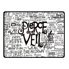 Pierce The Veil Music Band Group Fabric Art Cloth Poster Double Sided Fleece Blanket (small)