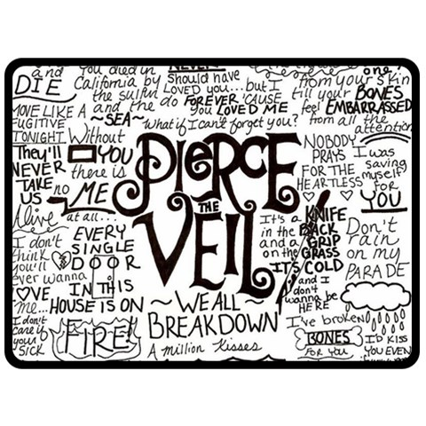 Pierce The Veil Music Band Group Fabric Art Cloth Poster Double Sided Fleece Blanket (Large)