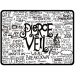 Pierce The Veil Music Band Group Fabric Art Cloth Poster Double Sided Fleece Blanket (Large)  80 x60 Blanket Back