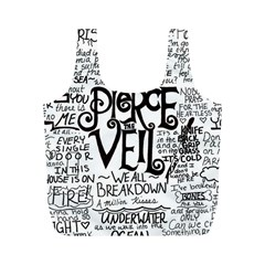 Pierce The Veil Music Band Group Fabric Art Cloth Poster Full Print Recycle Bags (m)
