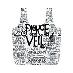 Pierce The Veil Music Band Group Fabric Art Cloth Poster Full Print Recycle Bags (M)  Back