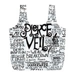 Pierce The Veil Music Band Group Fabric Art Cloth Poster Full Print Recycle Bags (L)  Front