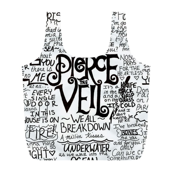 Pierce The Veil Music Band Group Fabric Art Cloth Poster Full Print Recycle Bags (L)