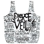 Pierce The Veil Music Band Group Fabric Art Cloth Poster Full Print Recycle Bags (L)  Back
