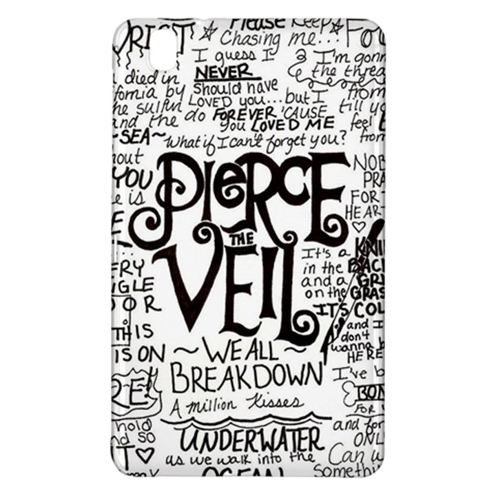 Pierce The Veil Music Band Group Fabric Art Cloth Poster Samsung Galaxy Tab Pro 8.4 Hardshell Case