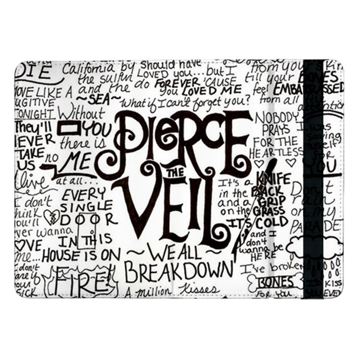 Pierce The Veil Music Band Group Fabric Art Cloth Poster Samsung Galaxy Tab Pro 12.2  Flip Case