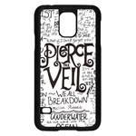 Pierce The Veil Music Band Group Fabric Art Cloth Poster Samsung Galaxy S5 Case (Black) Front