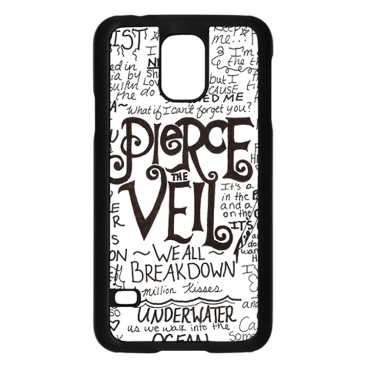 Pierce The Veil Music Band Group Fabric Art Cloth Poster Samsung Galaxy S5 Case (Black)