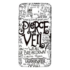 Pierce The Veil Music Band Group Fabric Art Cloth Poster Samsung Galaxy S5 Back Case (White)