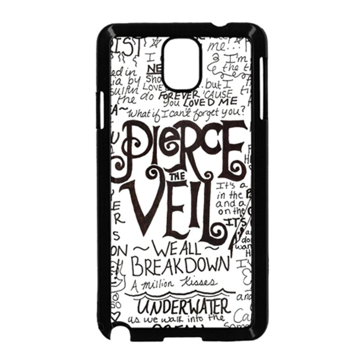 Pierce The Veil Music Band Group Fabric Art Cloth Poster Samsung Galaxy Note 3 Neo Hardshell Case (Black)