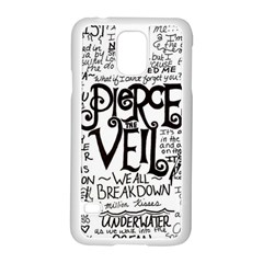 Pierce The Veil Music Band Group Fabric Art Cloth Poster Samsung Galaxy S5 Case (white)