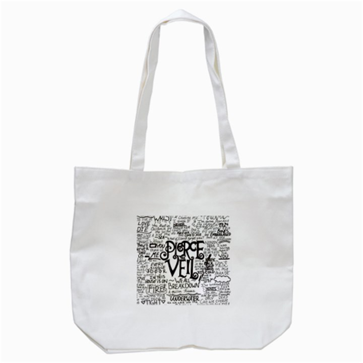 Pierce The Veil Music Band Group Fabric Art Cloth Poster Tote Bag (White)