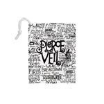 Pierce The Veil Music Band Group Fabric Art Cloth Poster Drawstring Pouches (Small)  Back