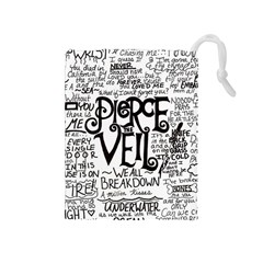 Pierce The Veil Music Band Group Fabric Art Cloth Poster Drawstring Pouches (Medium)