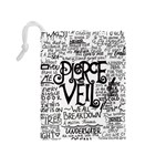 Pierce The Veil Music Band Group Fabric Art Cloth Poster Drawstring Pouches (Medium)  Back