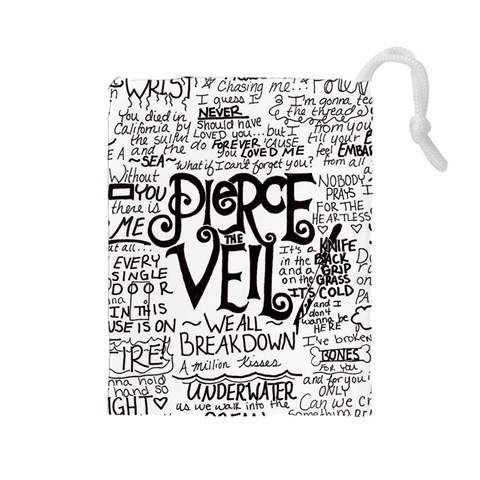 Pierce The Veil Music Band Group Fabric Art Cloth Poster Drawstring Pouches (Large)