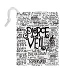 Pierce The Veil Music Band Group Fabric Art Cloth Poster Drawstring Pouches (Large)  Back