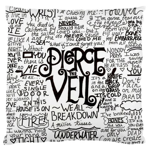 Pierce The Veil Music Band Group Fabric Art Cloth Poster Standard Flano Cushion Case (One Side)