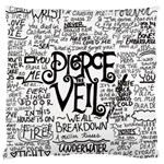 Pierce The Veil Music Band Group Fabric Art Cloth Poster Large Flano Cushion Case (Two Sides) Back