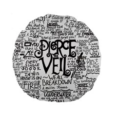 Pierce The Veil Music Band Group Fabric Art Cloth Poster Standard 15  Premium Flano Round Cushions