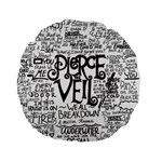 Pierce The Veil Music Band Group Fabric Art Cloth Poster Standard 15  Premium Flano Round Cushions Back