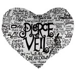 Pierce The Veil Music Band Group Fabric Art Cloth Poster Large 19  Premium Flano Heart Shape Cushions Front