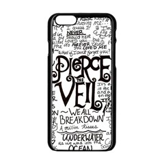 Pierce The Veil Music Band Group Fabric Art Cloth Poster Apple iPhone 6/6S Black Enamel Case