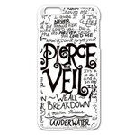 Pierce The Veil Music Band Group Fabric Art Cloth Poster Apple iPhone 6 Plus/6S Plus Enamel White Case Front