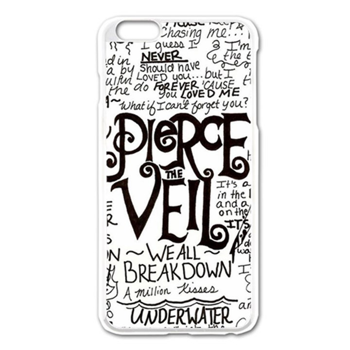 Pierce The Veil Music Band Group Fabric Art Cloth Poster Apple iPhone 6 Plus/6S Plus Enamel White Case