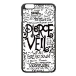 Pierce The Veil Music Band Group Fabric Art Cloth Poster Apple iPhone 6 Plus/6S Plus Black Enamel Case Front