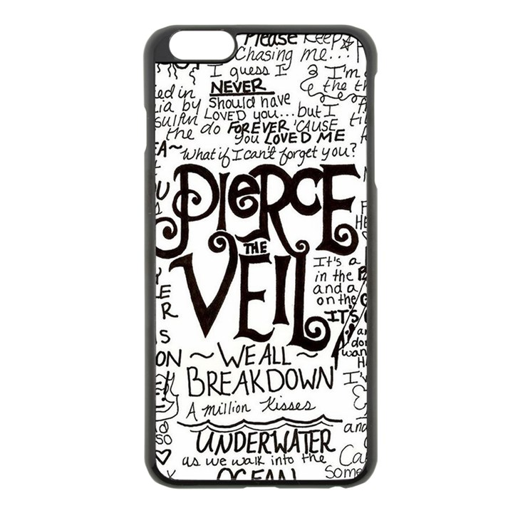 Pierce The Veil Music Band Group Fabric Art Cloth Poster Apple iPhone 6 Plus/6S Plus Black Enamel Case