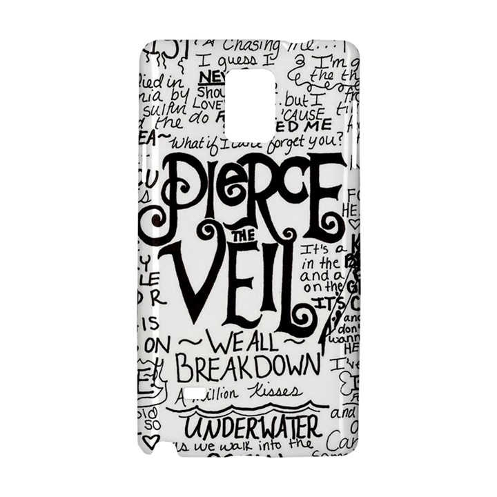 Pierce The Veil Music Band Group Fabric Art Cloth Poster Samsung Galaxy Note 4 Hardshell Case