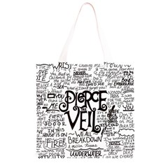 Pierce The Veil Music Band Group Fabric Art Cloth Poster Grocery Light Tote Bag