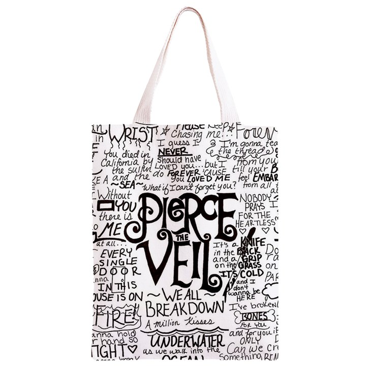 Pierce The Veil Music Band Group Fabric Art Cloth Poster Classic Light Tote Bag