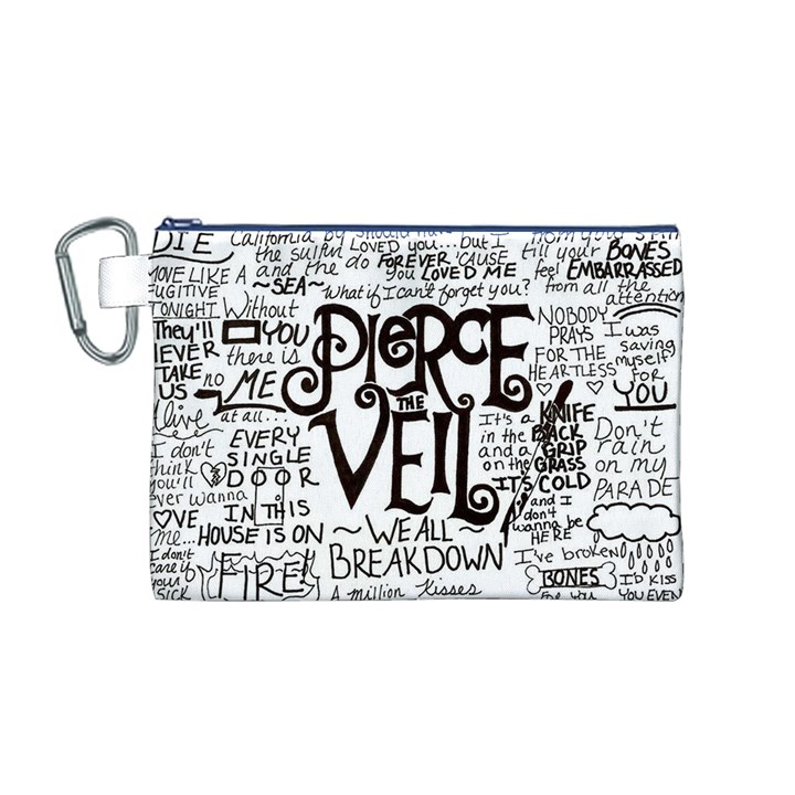 Pierce The Veil Music Band Group Fabric Art Cloth Poster Canvas Cosmetic Bag (M)
