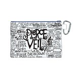 Pierce The Veil Music Band Group Fabric Art Cloth Poster Canvas Cosmetic Bag (M) Back