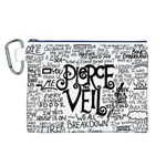 Pierce The Veil Music Band Group Fabric Art Cloth Poster Canvas Cosmetic Bag (L) Front