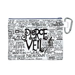 Pierce The Veil Music Band Group Fabric Art Cloth Poster Canvas Cosmetic Bag (L) Back