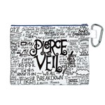 Pierce The Veil Music Band Group Fabric Art Cloth Poster Canvas Cosmetic Bag (XL) Back