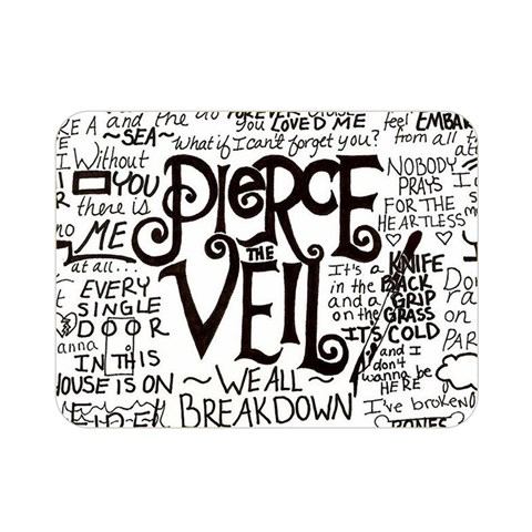 Pierce The Veil Music Band Group Fabric Art Cloth Poster Double Sided Flano Blanket (Mini)