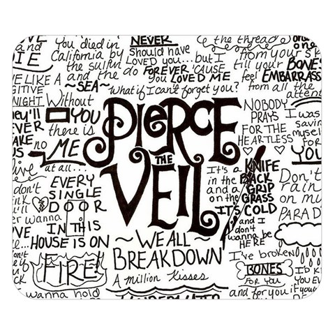 Pierce The Veil Music Band Group Fabric Art Cloth Poster Double Sided Flano Blanket (Small)