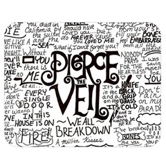 Pierce The Veil Music Band Group Fabric Art Cloth Poster Double Sided Flano Blanket (Medium)
