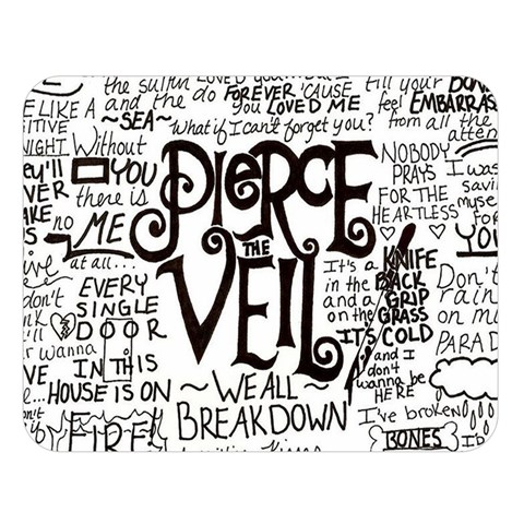 Pierce The Veil Music Band Group Fabric Art Cloth Poster Double Sided Flano Blanket (Large)