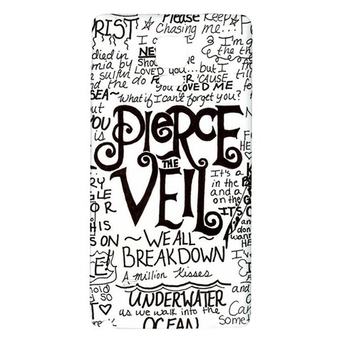 Pierce The Veil Music Band Group Fabric Art Cloth Poster Galaxy Note 4 Back Case