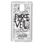 Pierce The Veil Music Band Group Fabric Art Cloth Poster Samsung Galaxy Note 4 Case (White) Front